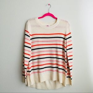 NWOT Old Navy Stripe Knit Pullover Sweater L